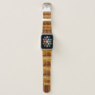 Stylish Infinity African Maps Pattern design Color Apple Watch Band