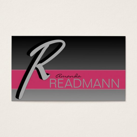 Stylish Initial R business cards