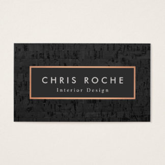 Stylish Interior Designer Copper Frame Cork Board Business Card