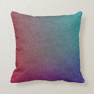 Stylish Iridescent Ombre Pink Purple Teal Throw Pillow
