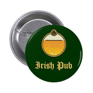 Stylish Irish Pub beer logo Button