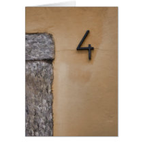 Stylish Italian Art Deco Door Number Four Card