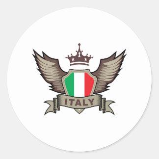Stylish Italy Classic Round Sticker