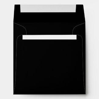 Stylish Jet Black Paper Envelope