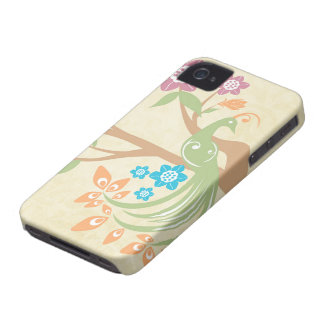 Stylish jewel tone floral peacock blackberry bold iPhone 4 cases