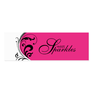 Stylish Jewelry Tags Business Cards