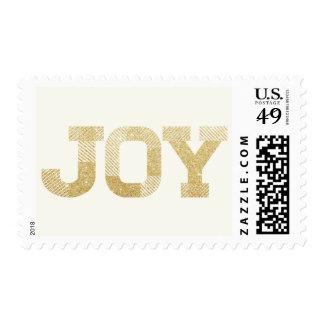 Stylish Joy Gold Glitter Holiday Greetings Stamps