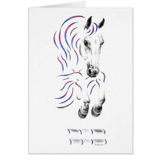 Stylish Jumping Jumper Horse Greeting Card