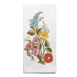 Stylish Kalocsai  flowers - personalized wedding Cloth Napkin