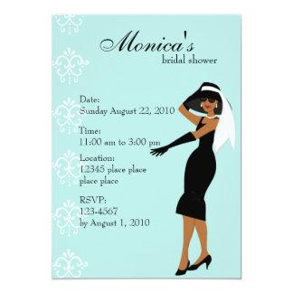 Stylish Lady 5x7 Paper Invitation Card