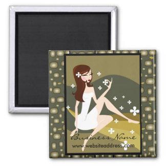 Stylish Lady Customizable Magnet