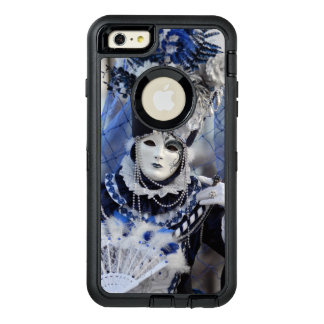 Stylish Lady in Blue Carnival Costume OtterBox Defender iPhone Case