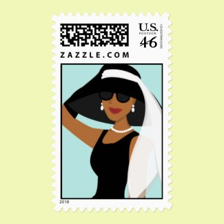Stylish Lady stamp