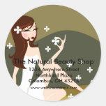 Stylish Lady - Return Address Labels Classic Round Sticker