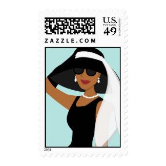 Stylish Lady Stamps