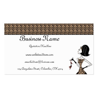 Stylish Lady with a Shoe Business Cards