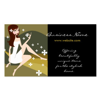 Stylish Lady with Designs Business Cards