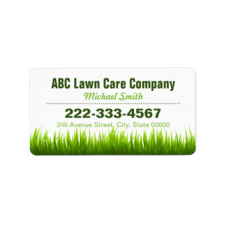 Stylish Landscaping Lawn Care Services Label