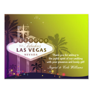 Stylish Las Vegas Wedding Thank You Card