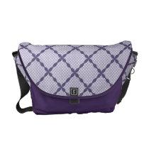 Stylish Lavender Purple Pattern Design Messenger Bag