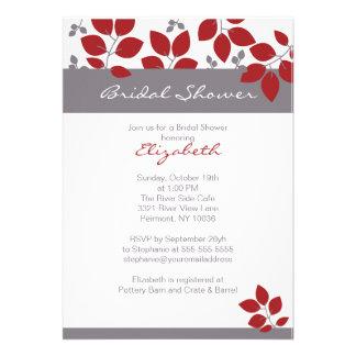 Stylish Leaf Fall Bridal Shower Invite