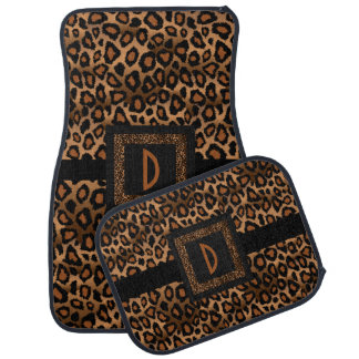 Stylish Leopard Animal Print Pattern | Brown Car Floor Mat