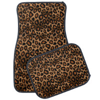 Stylish Leopard Animal Print Pattern | Brown Car Floor Mat