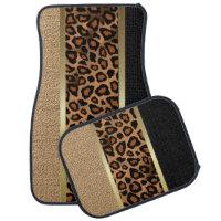 Stylish Leopard Animal Print Pattern | Tan Car Mat