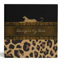 Stylish Leopard Print Avery Binder