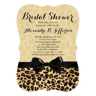 Stylish Leopard Print Bridal Shower Invitation