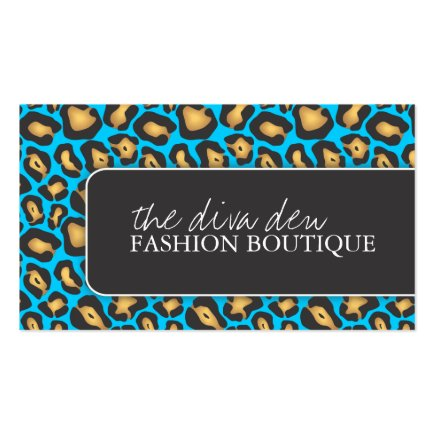 Stylish Leopard Print Business Cards