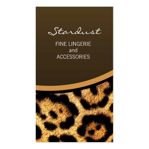 Leopard print business card templates page7 bizcardstudio stylish leopard print business cards colourmoves Images