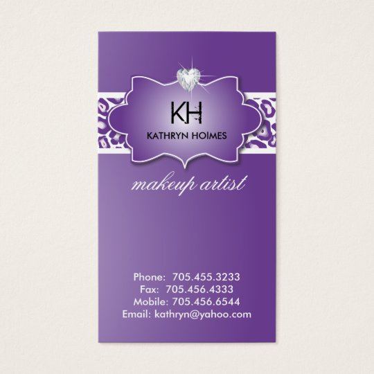 Stylish Leopard Print Business Cards