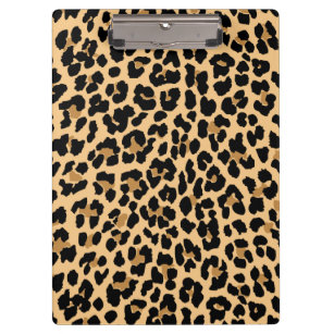 Wonderful Stylish Leopard Print Clipboard