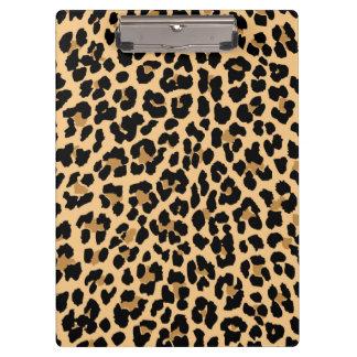 Stylish Leopard Print Clipboard