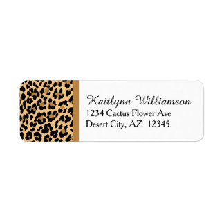 Stylish Leopard Print Label