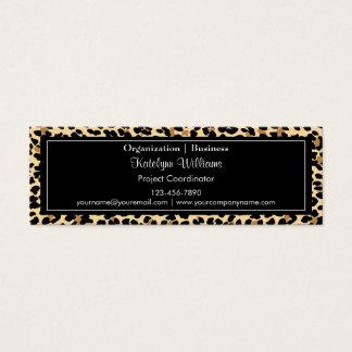 Stylish Leopard Print Skinny Business Card