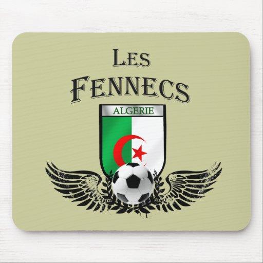 Stylish Les fennecs flag of Algeria badge Mouse Pad