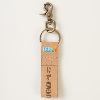 Stylish Let The Adventure Begin Now (Personalized) Keychain