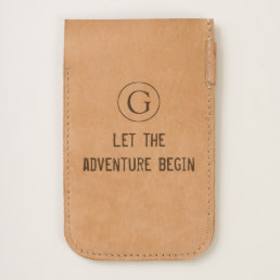 """Stylish """"Let The Adventure Begin"""" with Initial iPhone 6/6S Case"""