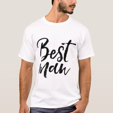 heartlocked Stylish Lettering Brush Typography | Best Man T-Shirt
