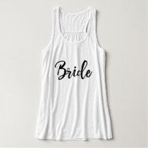 Stylish Lettering Brush Typography   Bride Tank Top