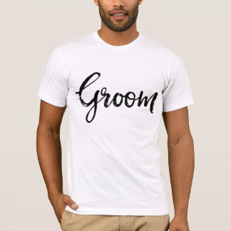 Stylish Lettering Brush Typography | Groom T-Shirt