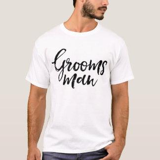 Stylish Lettering Brush Typography | Groomsman T-Shirt