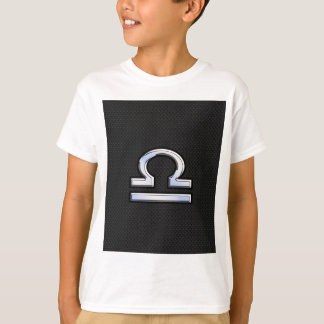 Stylish Libra Zodiac Sign Black Snake Skin Decor T-Shirt