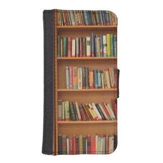 Stylish Library Bookstore Bookshelf iPhone 5 Wallet Case
