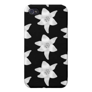 Stylish Lily Pern in Black and White. iPhone 4 Cases