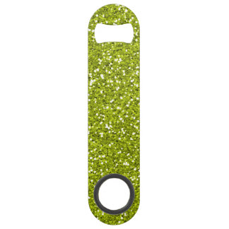 Stylish Lime Green Glitter Bar Key