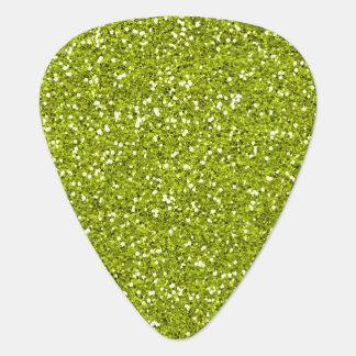 Stylish Lime Green Glitter Guitar Pick