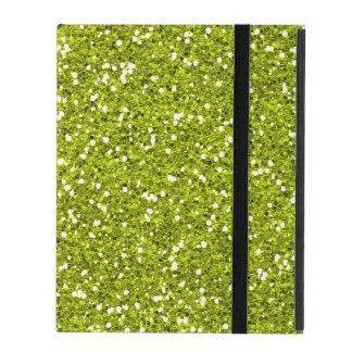 Stylish Lime Green Glitter iPad Covers